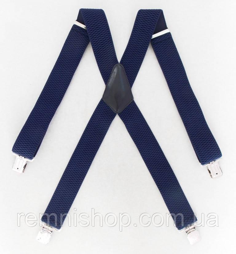 Широкие мужские подтяжки синие Topgal