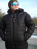 Куртка мужская Porsche на тинсулейте черная с капюшоном