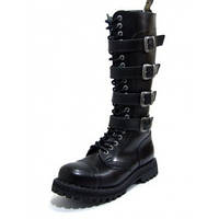 Ботинки  STEEL 139/140OZ4P-BLK (кожа, шкіра, черевики)