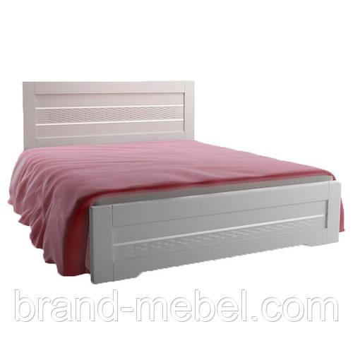 Кровать Соломия скол дуба белый