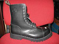 Ботинки STEEL 105/106ON-BLK (кожа, на меху, стальной носок, шкіра, хутро, черевики)