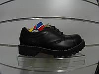Туфли STEEL 155/156O-BLK (кожа, шкіра, стальной носок)