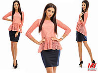 Блуза гипюровая в расцветках