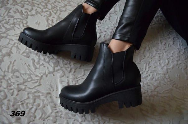 фото женские осенние ботинки