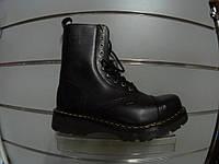 Ботинки STEEL 115/116/AL-BLK (кожа, прозрачная подошва, черевики, шкіра, прозора підошва)