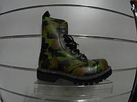 Ботинки STEEL 115/116O-MORO (кожа, камуфляж, милитари, стальной носок, черевики, шкіра)