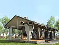 Проект одноэтажного финского деревянного дома площадью 97 м2