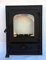 Дверца для печи и барбекю Алигатор, печная дверка со стеклом