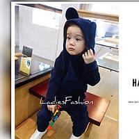 Детский костюм из плотного мягкого велюра,очень приятного к телу., Расцветки темно-синий и серый ал №08262