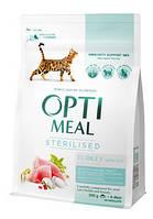 Корм Optimeal (Оптимил) STERILIZED для стерилизованных кошек индейка с овсом, 4 кг