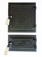 Дверца для печи и барбекю Лев Нубийский, дверки печные