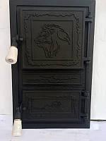 Дверца для печи и барбекю Лев Капский, дверка печная