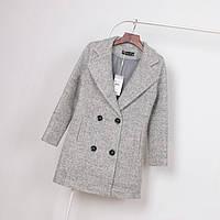 Пальто из шерсти серое (осень-зима)