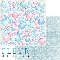 Лист бумаги Fleur Design, Новогодняя сказка - Елочные игрушки, 30x30 см, 1 шт