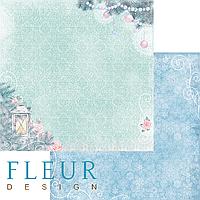 Лист бумаги Fleur Design, Новогодняя сказка - Очаг, 30x30 см, 1 шт