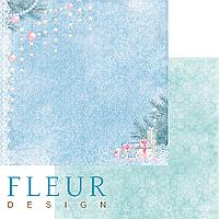 Лист бумаги Fleur Design, Новогодняя сказка - Подарки под елкой, 30x30 см, 1 шт