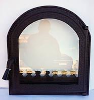 Дверца для печи и барбекю Печь-Каминная, дверца печная со стеклом