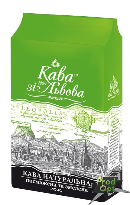 Кава зі Львова, мелена з часточками зеленої кави 240 г