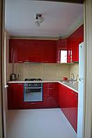 """Угловая Кухня """"красный перламутр"""", фото 1"""