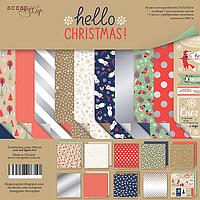 Набор бумаги от Scrap Мир - Hello Christmas, 30x30 см, 10 листов