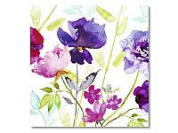 Салфетка для декупажа Ti-Flair Акварельные цветы, размер в развёрнутом виде 33x33 см