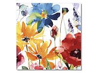 Салфетка для декупажа Ti-Flair Акварельные цветы, цветные, размер в развёрнутом виде 33x33 см