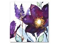 Салфетка для декупажа Ti-Flair Акварельные цветы, фиолетовые, размер в развёрнутом виде 33x33 см