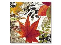 Салфетка для декупажа Ti-Flair Осенние листочки, размер в развёрнутом виде 33x33 см