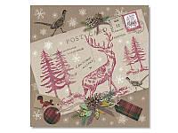 Салфетка для декупажа Ti-Flair Рождественское письмо, размер в развёрнутом виде 33x33 см