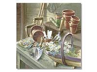 Салфетка для декупажа Ti-Flair Ромашки в саду, размер в развёрнутом виде 33x33 см