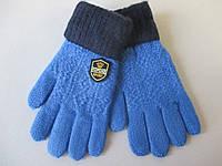 Перчатки однотонные  для мальчиков.