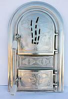 Дверца для печи и барбекю Трость, печная дверка со стеклом