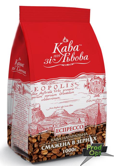 Кава зі Львова еспрессо, зерно 1 кг
