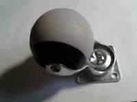 Колесо мебельное опорное поворотное, шарик, на платформе ( Ф-48 мм), резиновое
