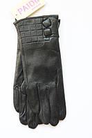 Милые кожаные перчатки на меху