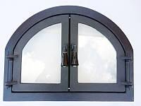 Дверца для печи, камина и барбекю Двухдверная, дверца печная со стеклом