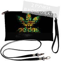 Черная сумка клатч с принтом Adidas