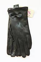 Зимние женские перчатки с бантиком