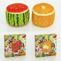 Fruit Pouf Мягкий надувной пуфик Апельсин Danko Toys