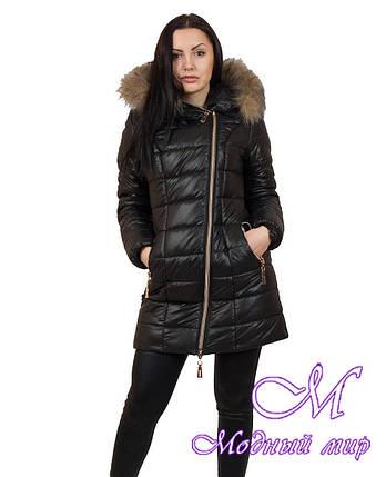 Женская удлиненная зимняя куртка больших размеров (р. 42-56) арт. Наоми удлиненная, фото 2