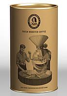 Кофе жареный. Фасованный в картонный тубус по 200 грамм (ЗЕРНО\МОЛОТЫЙ).