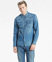 Джинсовая рубашка Levis Sawtooth Western Shirt - Laundered Medium Blue