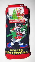 Новогодние носки детские , зимние, махровые внутри, хлопок турция  0-1год(1)