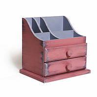 Розовый мини комодик для бижутерии деревянный