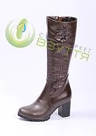 Шкіряні жіночі зимові чоботи на хутрі ALEXANDER 40-41 розміри
