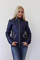 Синяя курточка со змейками, на синтепоне Арт-8952/76