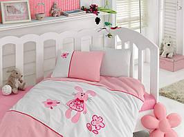 Постельное белье Cotton Box для новорожденных с вышивкой Minik Tavsan CB25