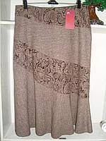 Женская зимняя юбка годе шерсть