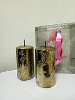 Набор декоративных свечей в подарочной упаковке. 2 штуки