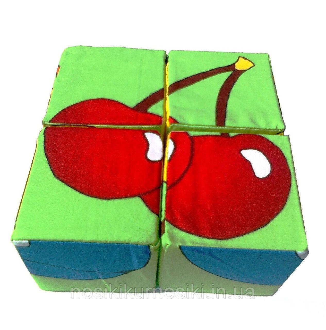 Розвиваючі м'які кубики Розумна іграшка Фрукти